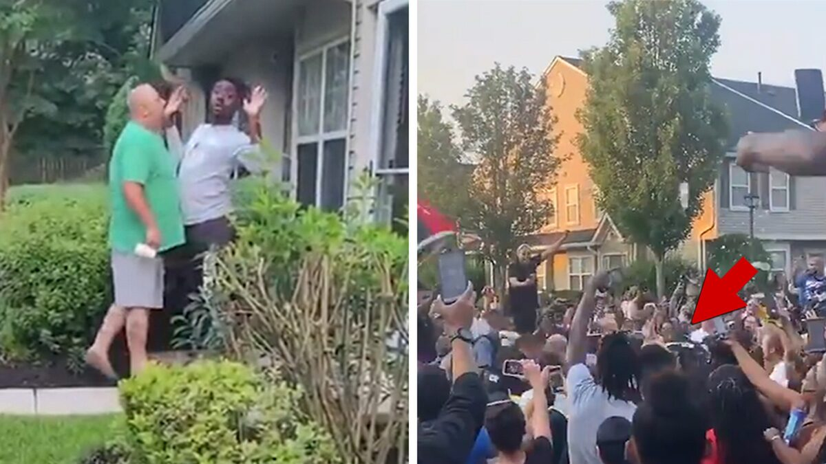 Man Gives Out Address Amid Racist Rant, Pelted By Protesters During Arrest