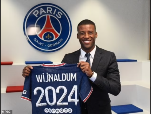 PSG Officially Unveil Georginio Wijnaldum As Their Latest Summer Signing After He Left Liverpool On A Free Transfer (Photos)
