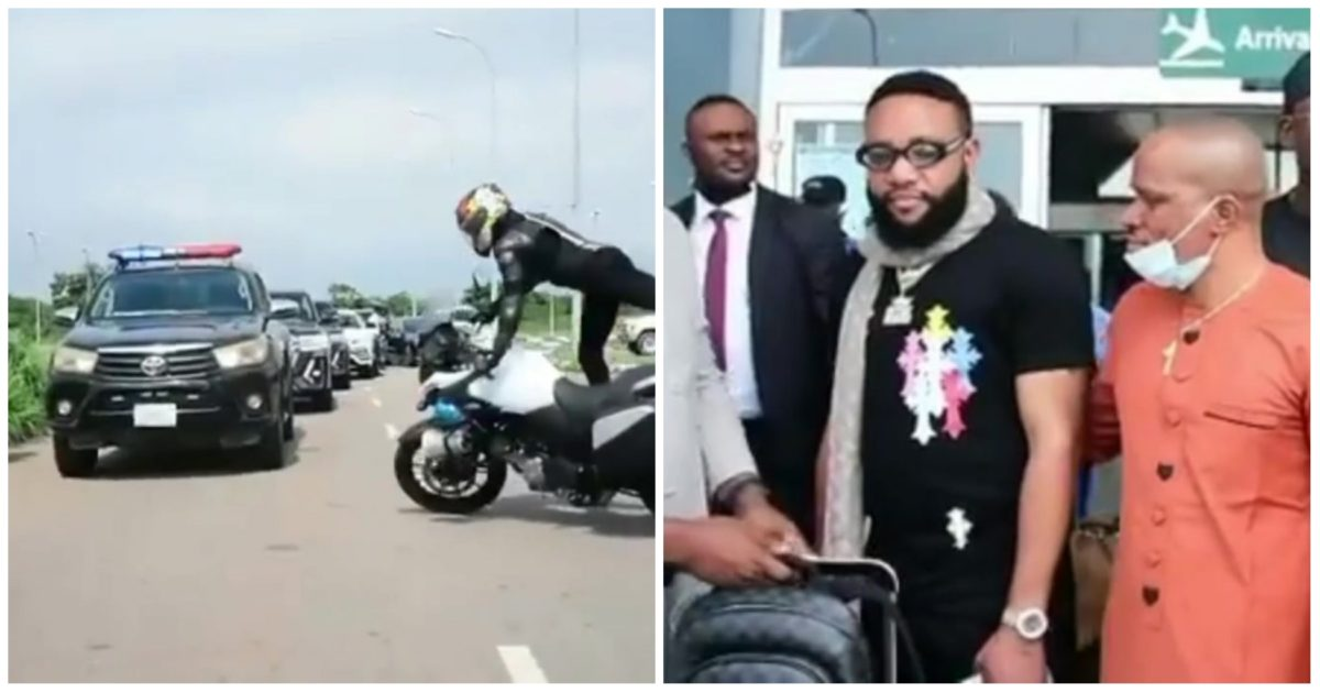 Watch the moment E-Money arrived at Obi Cubana mother's burial (Video)