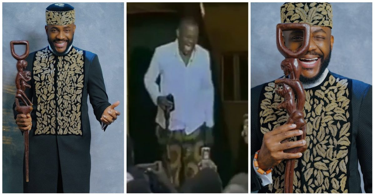 Ebuka returns with traditional staff he took to BBNaija house 15 years ago, shares story behind it (Video)