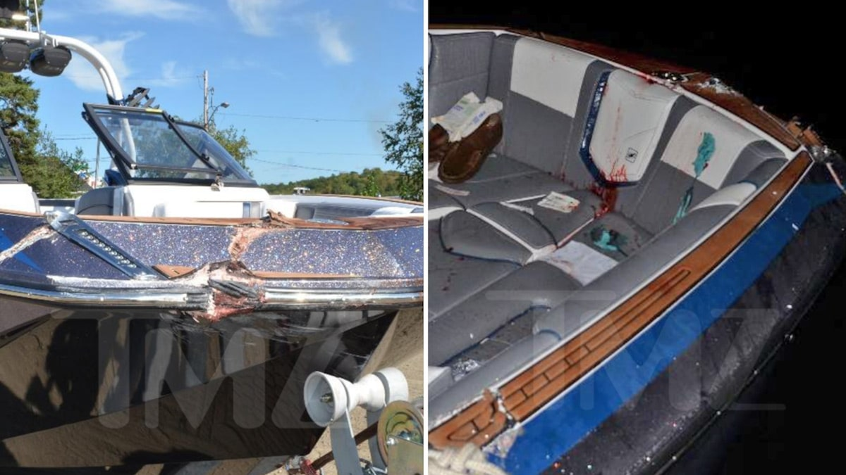 Photos Show Boat Damage from Kevin O'Leary's Wife's Fatal Crash