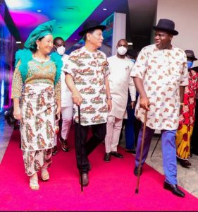 South Korea Ambassador, Kim Young-Chae And His Wife Wear Traditional Ijaw Attires