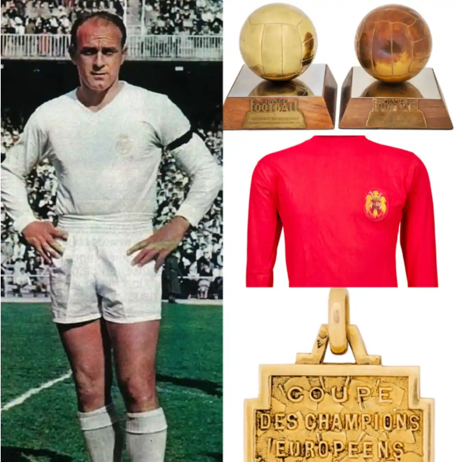 Stefano's Ballon d'Or Awards, Iconic Jerseys, UCL/LaLiga Gold Medals Up For Auction
