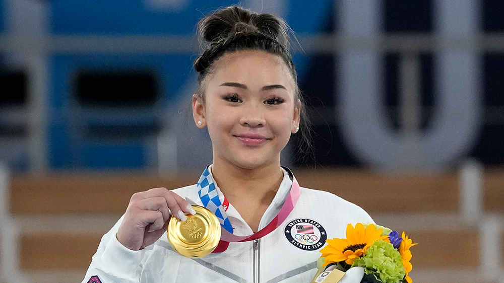 Suni Lee Wins Gold Medal in All-Around Gymnastics for Team USA