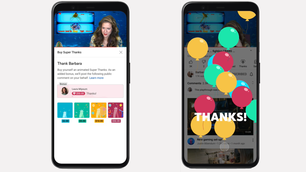 YouTube Intros Super Thanks, Tip-Jar Feature for Creator Channels
