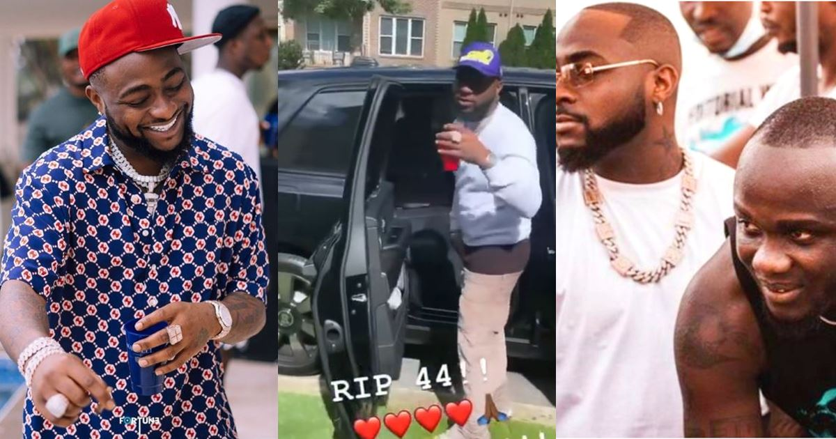 """""""RIP 44"""" – Davido offers farewell tribute to Obama DMW as he steps out in Atlanta (Video)"""