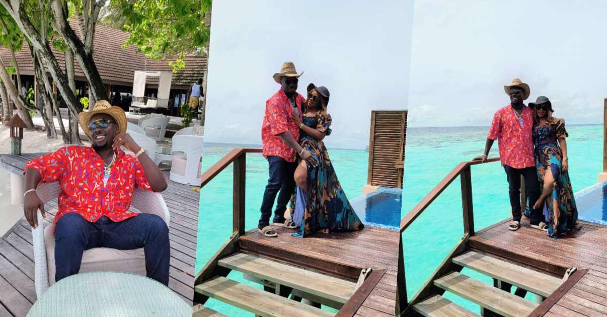 Obi Cubana and wife jet to Maldives Island for vacation after mother's burial (Video)