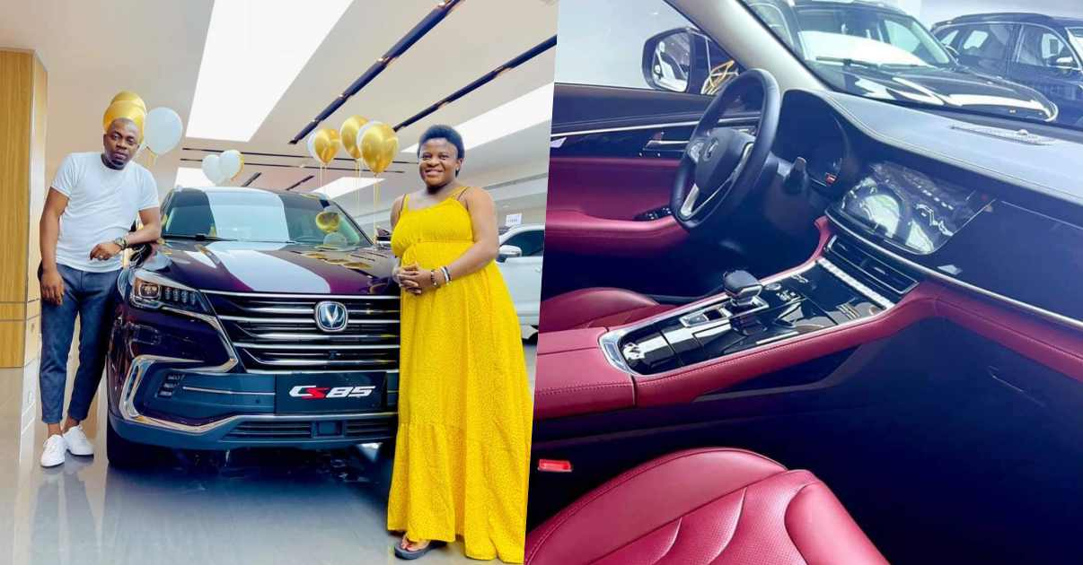 Angela Nwosu gets brand new car from husband after welcoming baby (Video)