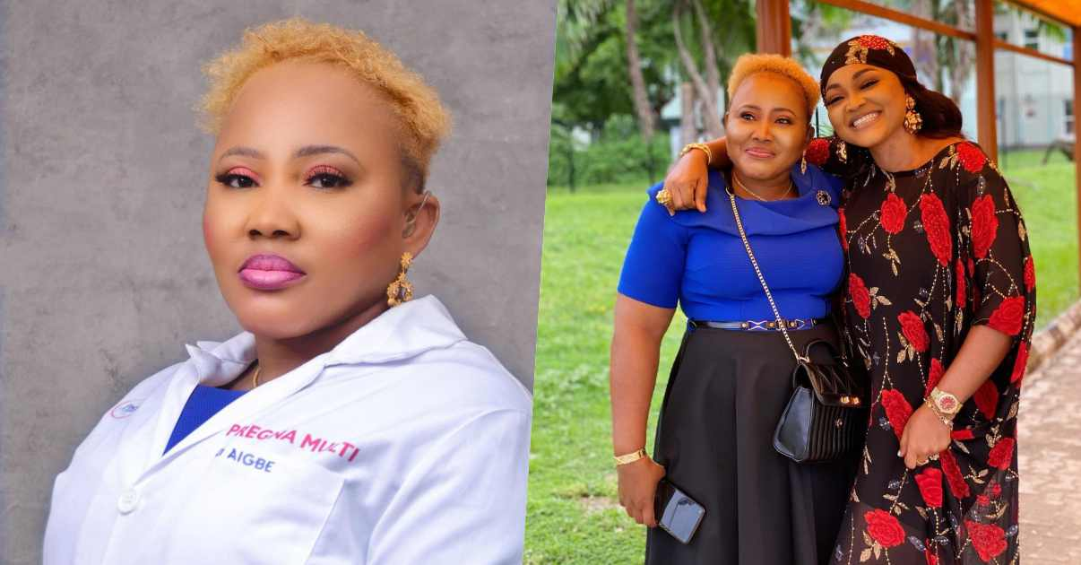 Actress Mercy Aigbe celebrates elder sister on her 50th birthday