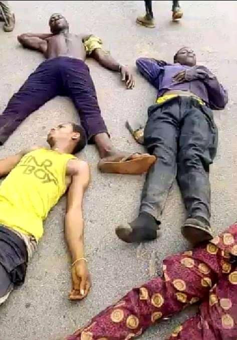 Five Suspected Kidnappers Burnt To Death In Edo (Graphic Photos)