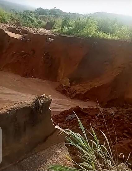 Community Calls For Help As Erosion Cuts Road, Leaving Farmer Trapped