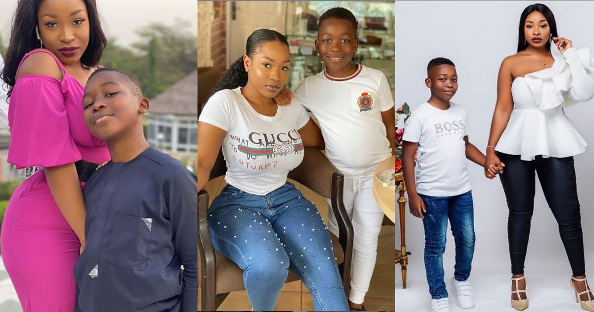 Check out photos of new housemate, Jackie B with her son, Nathan
