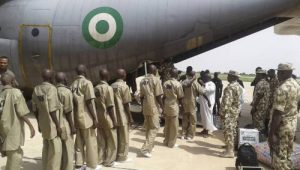 Nigerian Army Welcomes 28 Boko Haram, ISWAP Fighters, Families Who Surrendered In Borno
