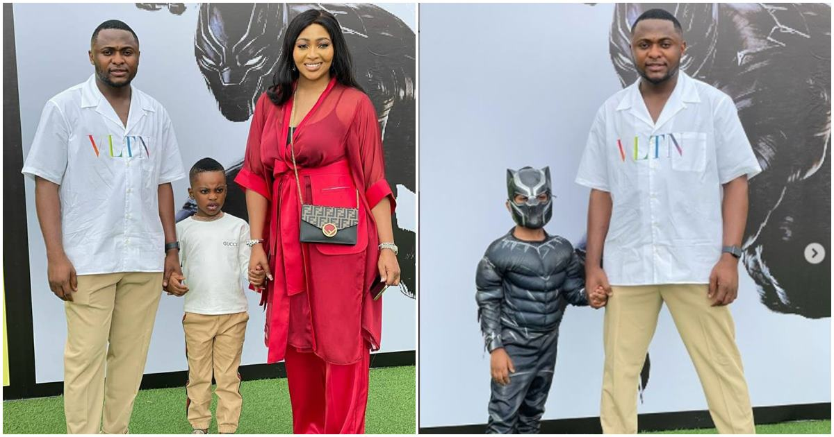 """""""Beautiful Family"""" Reactions as Ubi Franklin and his ex-wife, Lillian Esoro team up for their son's 5th birthday party"""