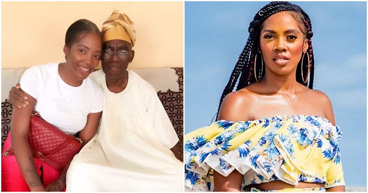 """""""This is tough, I'm weak, I'm numb"""" – Tiwa Savage loses father to the cold grip of death"""