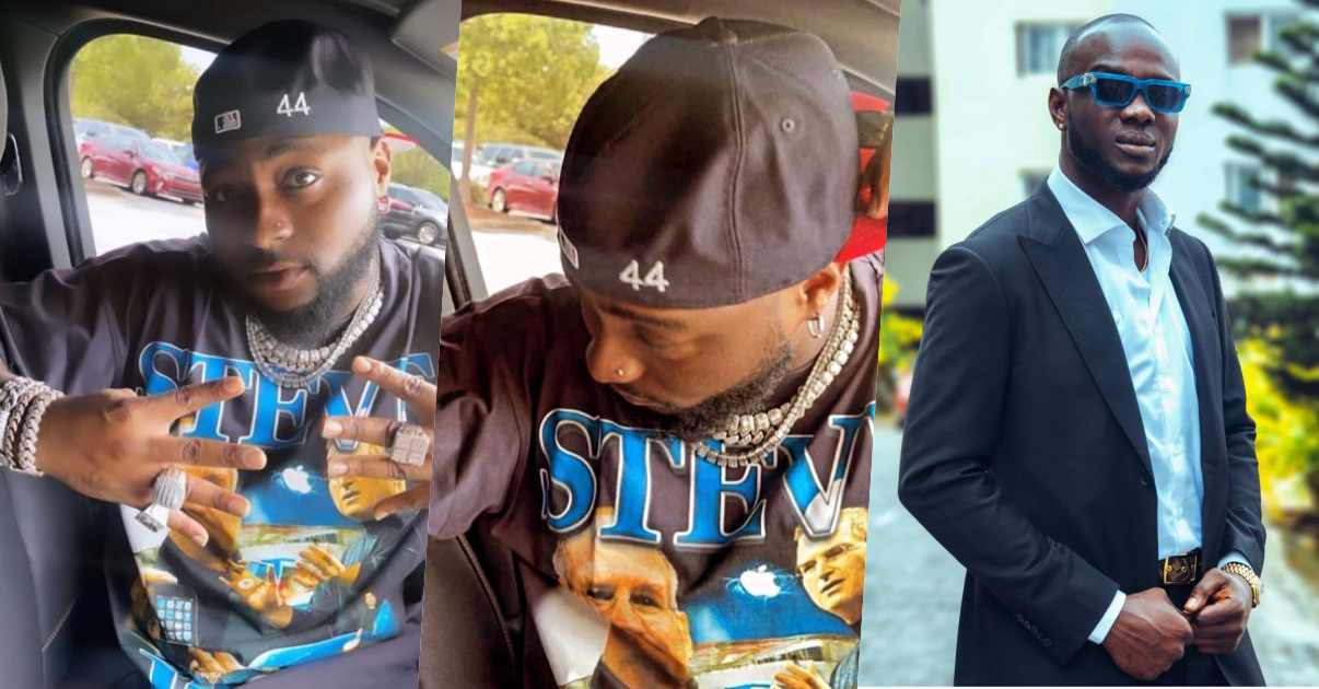 Davido makes first appearance online, rocks '44 cap' in tribute to Obama's death
