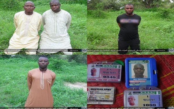 Boko Haram/ISWAP Releases Pictures of Abducted Soldiers, Yobe Protocol Officers (Photo)