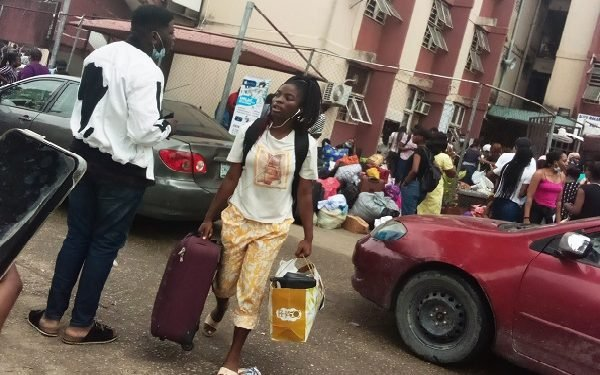 Video of UNILAG Students Vacating School Over Fears Of Another Coronavirus Outbreak