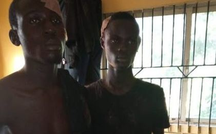 Two Suspected Cultists Arrested In Lagos, Weapons Recovered (Photo)