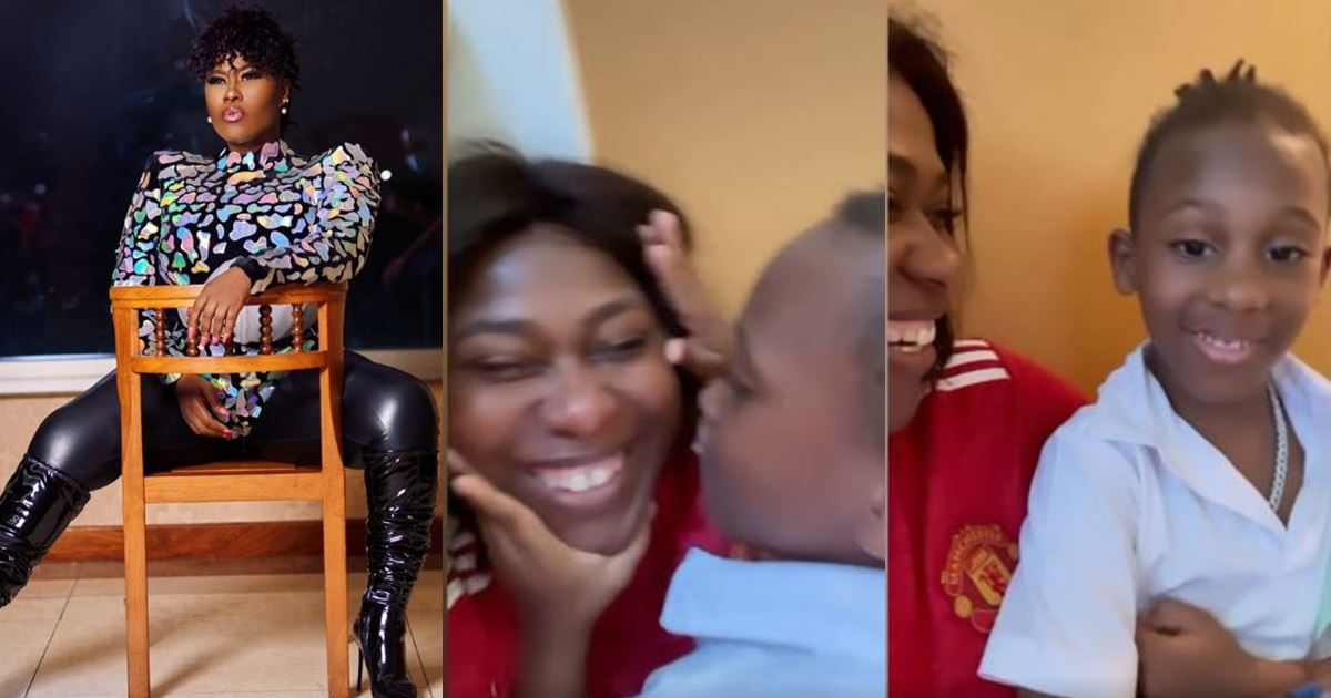 Watch actress Uche Jombo and son, Matthew profess their love for each other (Video)