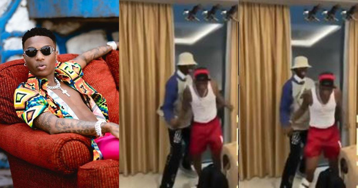 """""""He don high"""" – Fans react as Wizkid staggers after shaking Blaqbonez in Ghana (Video)"""