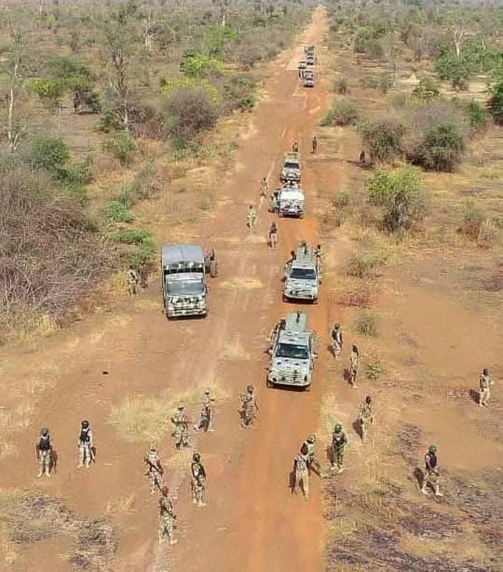 Aerial View Of The Nigeria Military Formation On Duty