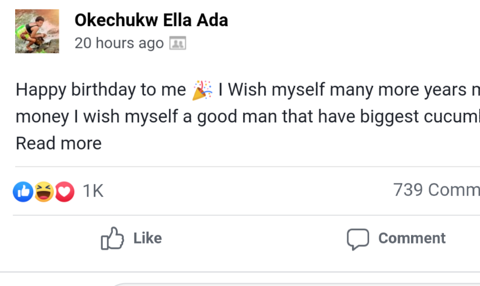 Lady Celebrates Her Birthday With Cucumbers, Prays For A Good Man (Photos)
