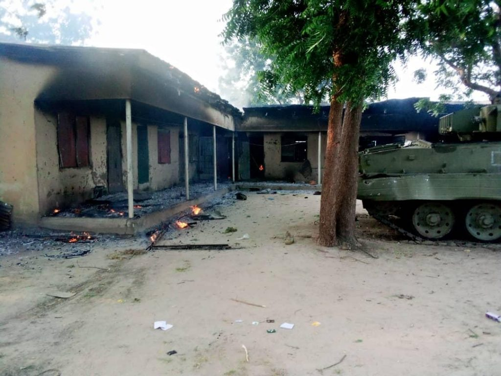 ISWAP Attacks Rann, Residents, Soldiers Flee To Cameroon (Photos)