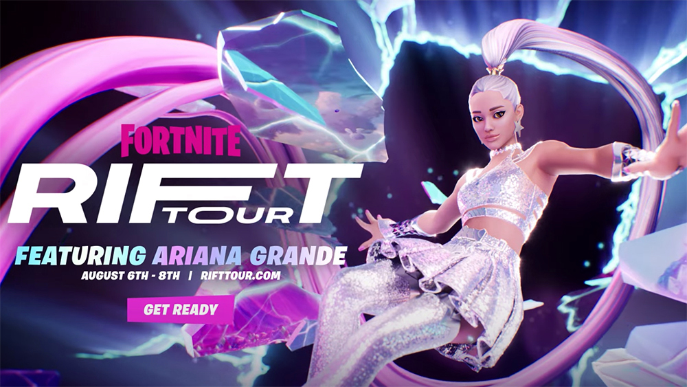 Ariana Grande Partners With Fortnite for 'Rift Tour' Concert Series