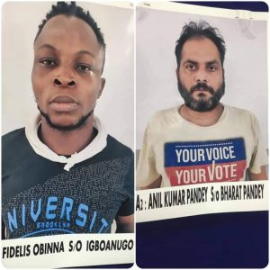 Nigerian Man, Accomplice Arrested In India For Duping People In Guise Of Providing Jobs, Sending Gifts
