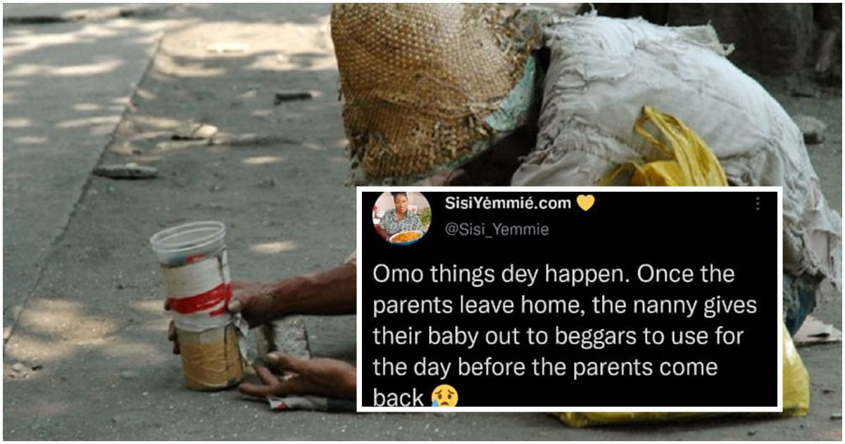 Lady narrates how nanny rents out her boss' children to beggars