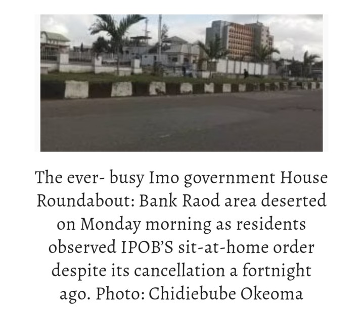 IPOB Sit-at-home Continues: South-east Traders, Others Lament Huge Losses