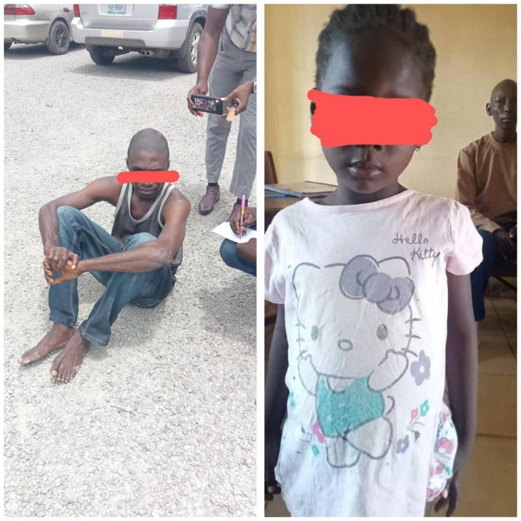 Man Who Defiled A 4-Year-Old Girl In Nasarawa Arrested By NSCDC (Pictures)