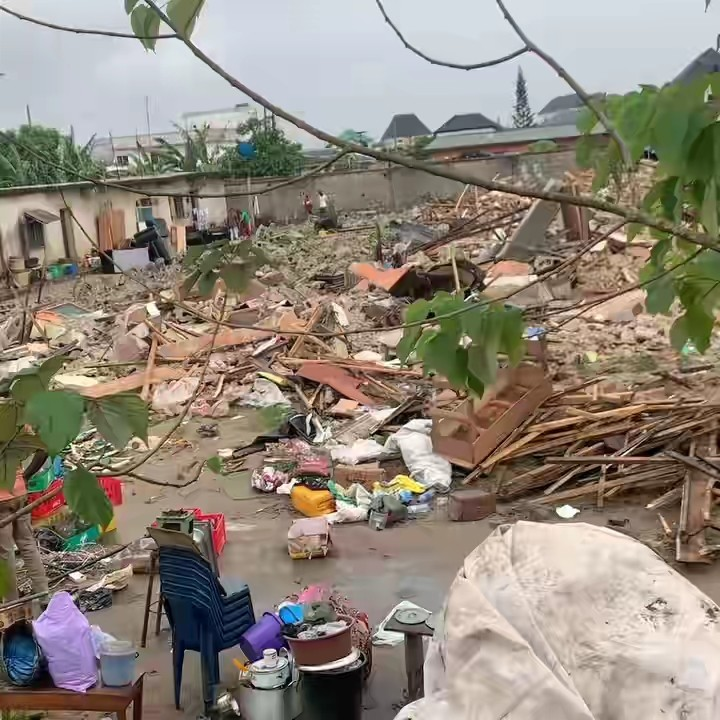 Lagos Government Demolishes Hostel While Students Were Still Inside