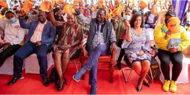 ODM party leader Raila Odinga receives defectors from DP Ruto's UDA party