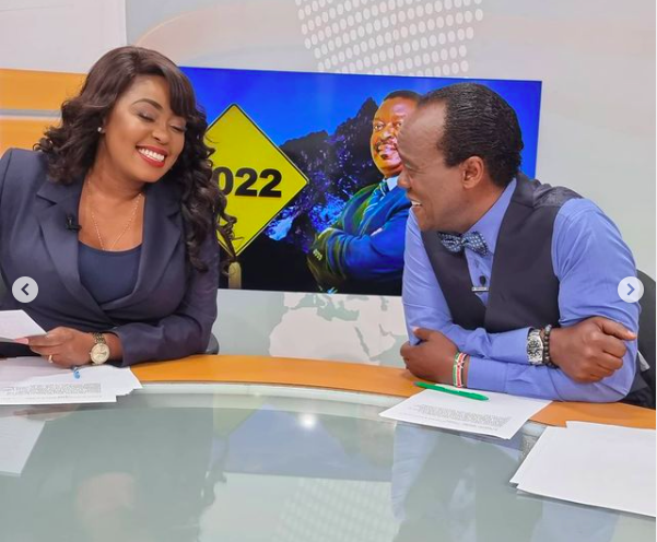 """Jeff Koinange On Spot After He's Caught Staring At Female Reporter's """"Chest"""""""