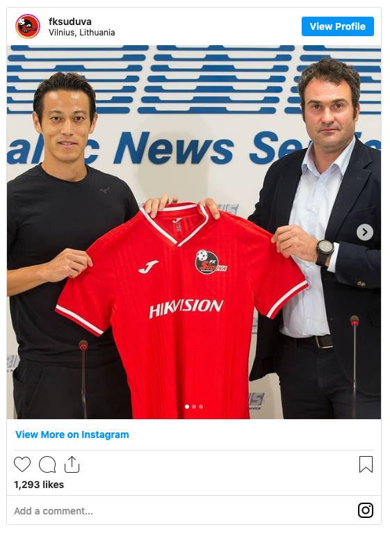 Honda Joins Lithuanian Outfit Suduva