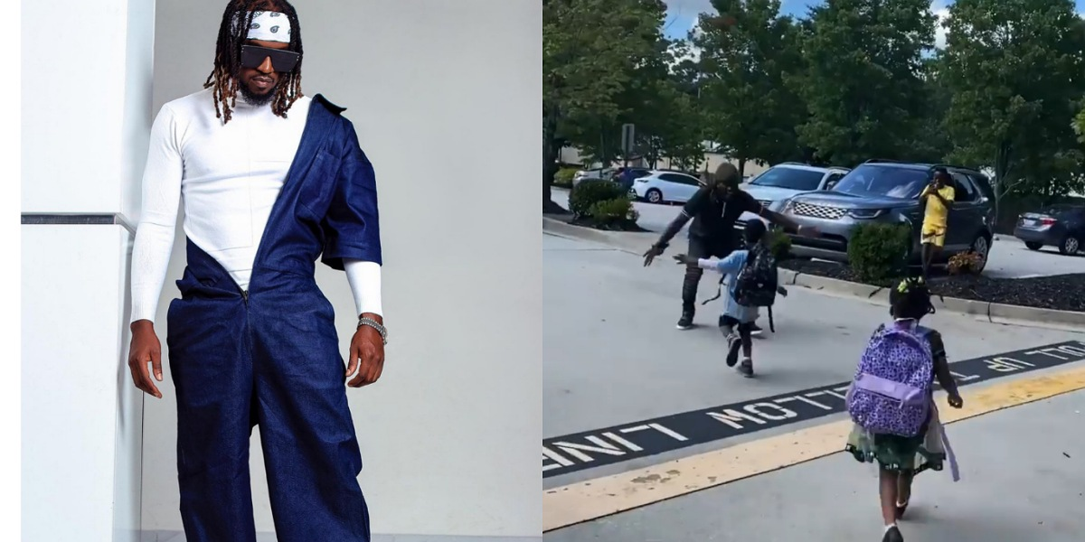 Adorable moment singer, Paul Okoye reunites with his kids in U.S amid divorce saga with wife (Video)