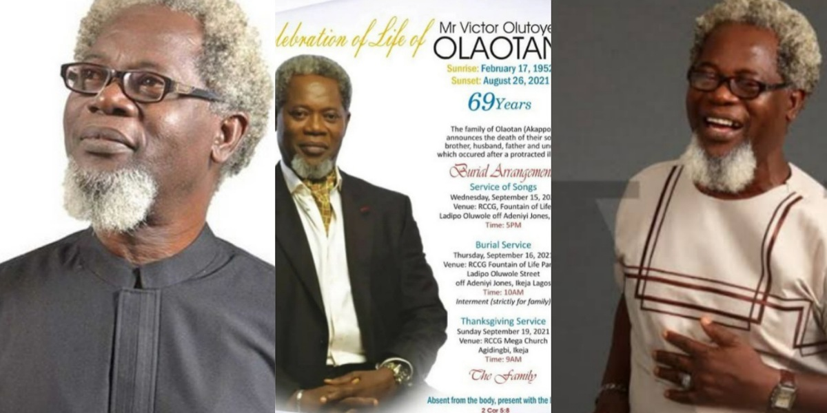 Family release Funeral arrangements for late Nollywood actor, Victor Olaotan