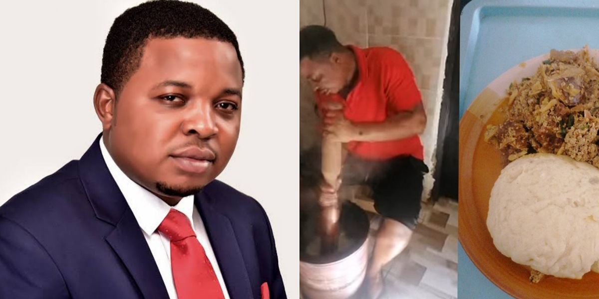 """""""The kitchen is not a lion's den"""" — Governor Ayade's aide, Inyali Peter says as he cooks for his wife, advises men to do same"""