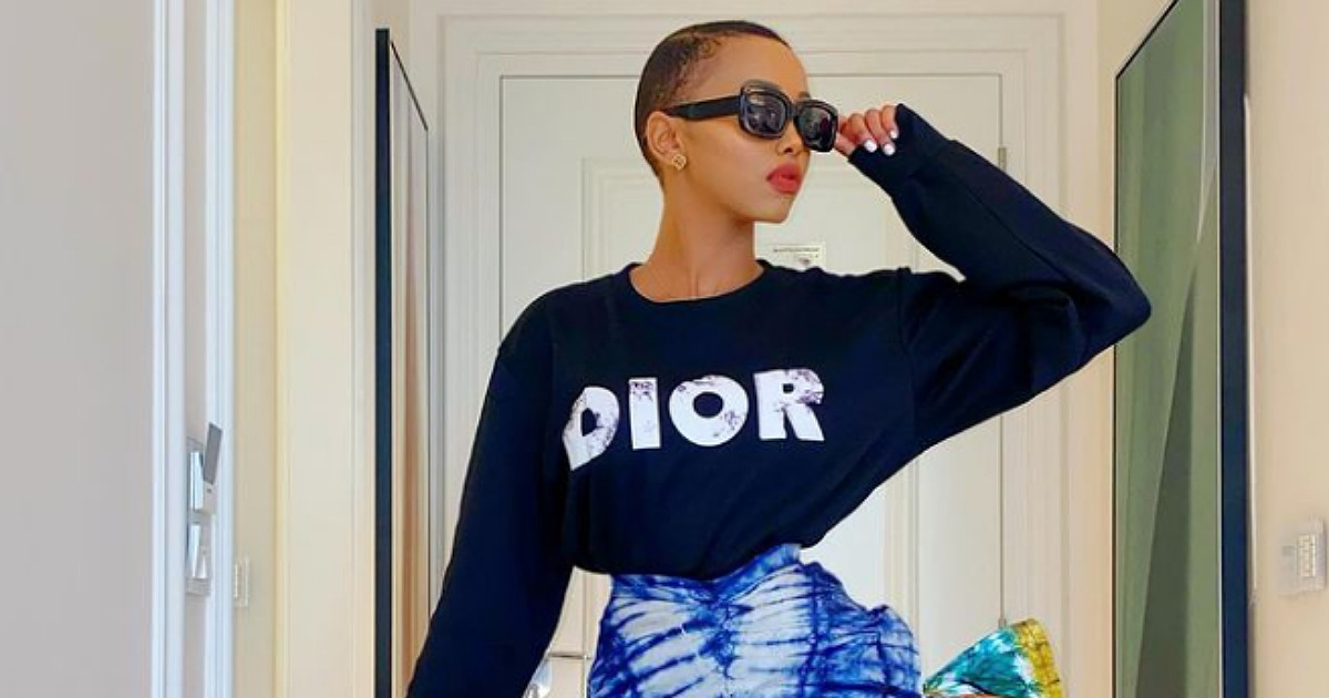Socialite, Huddah Monroe reacts after a man kept their chat for 7 years