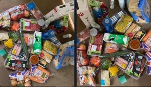 Nigerian Man Shares Photos Of Food Items His UK School Provided To Support Him While On A 10 day Quarantine