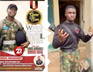 Oh No! 22-Year-Old Nigerian Soldier Killed After Motivating School Pupils In North-East (Video)