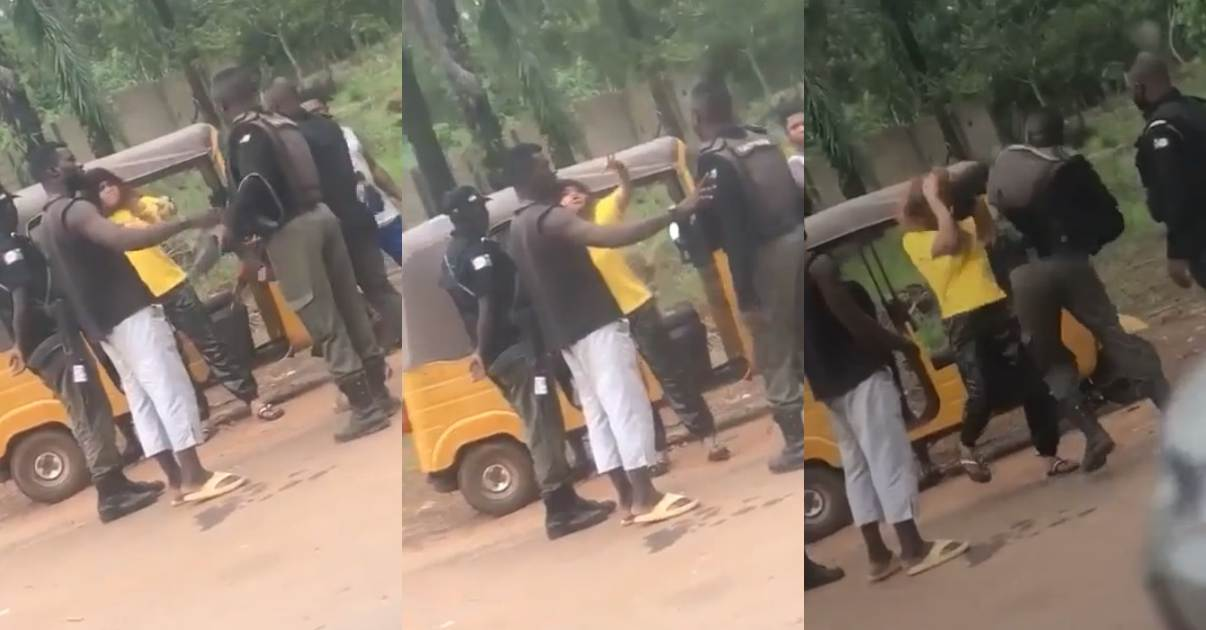 Police officer caught on tape beating woman, calls her 'ashawo' (Video)