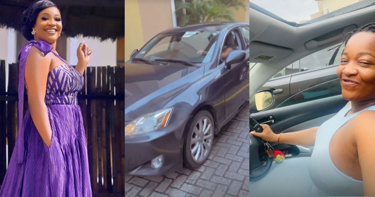 Reality star, Lucy Edet acquires new Lexus car (Video)