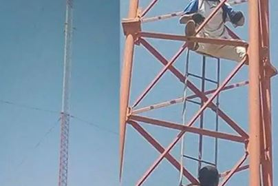 Drama As Gombe Man Climbs Telecoms Mast, Threatens Suicide If A Woman Is Not Married To Him