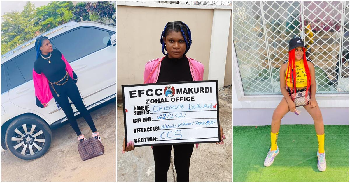 Lady arrested by EFCC shortly after posing on Facebook, sentenced to three years in prison