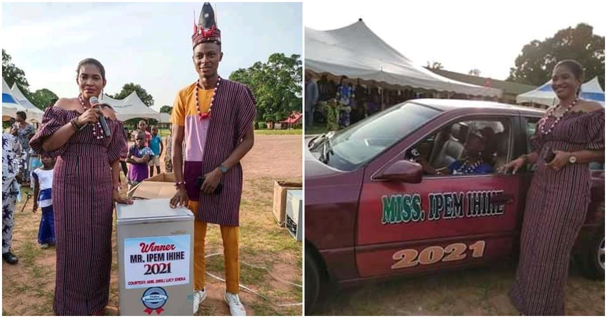 Beauty Pageant winners receive luxurious car gift and a freezer in Bekwarra, Cross River state