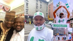 How Buhari Regime Hired Pro-Government Protesters In New York, Paid Them $50 Per Hour (Photos)