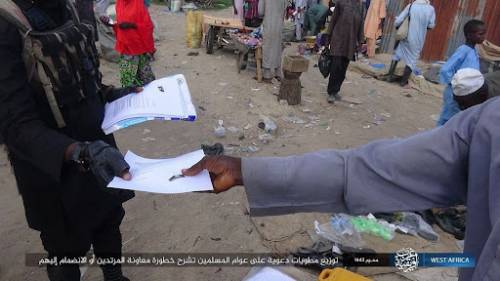Islamic State Terrorists Distribute Fliers In Borno, Threaten Residents Giving Information To Nigerian Military